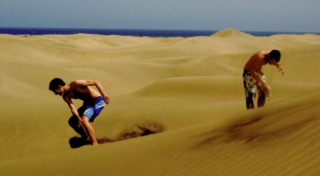 aterrizaje en las dunas